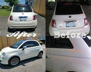 Hail Damage Repair on Fiat
