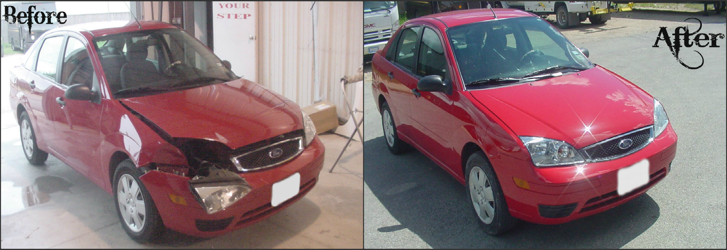car before after