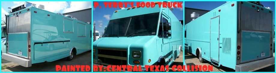 P. Terry's Food Truck Painted By Central Texas Collision Services.
