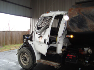 County Commercial Truck Before repair