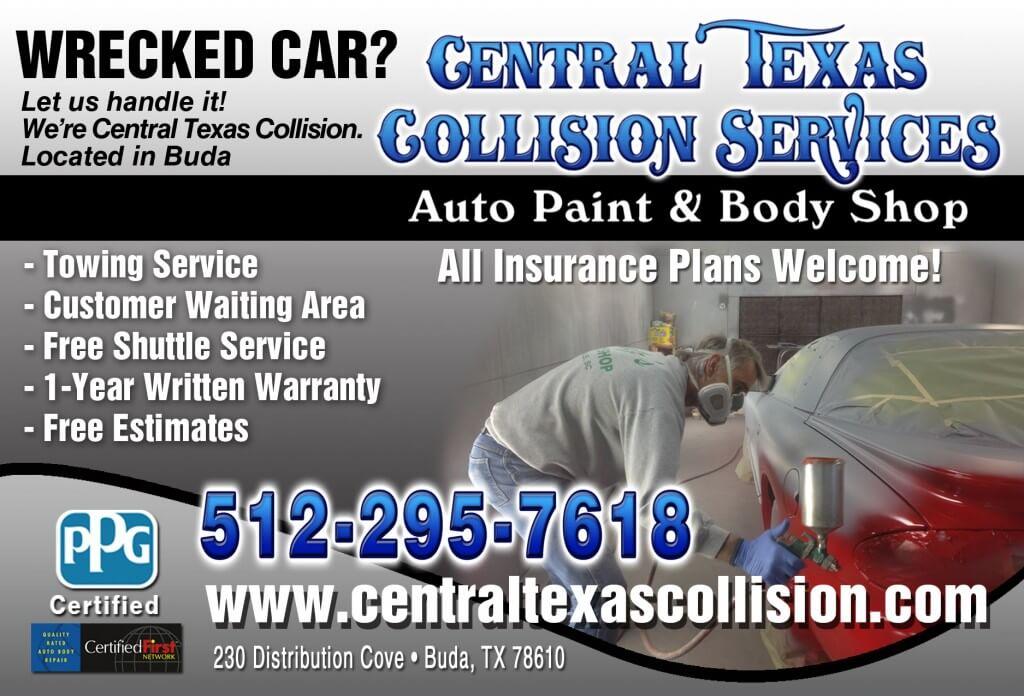 Central Texas Collision Services Auto Paint & Body Shop Services Postcard