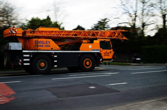 image of an auto crane vehicle