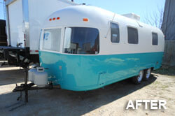 camper after the paint job