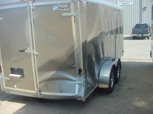 cargo trailer before repair